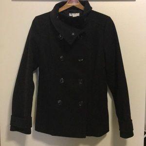 H&M women's black peacoat size 8/Medium